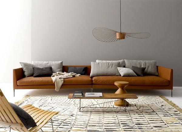 Sử dụng sofa da trong thiết kế nội thất