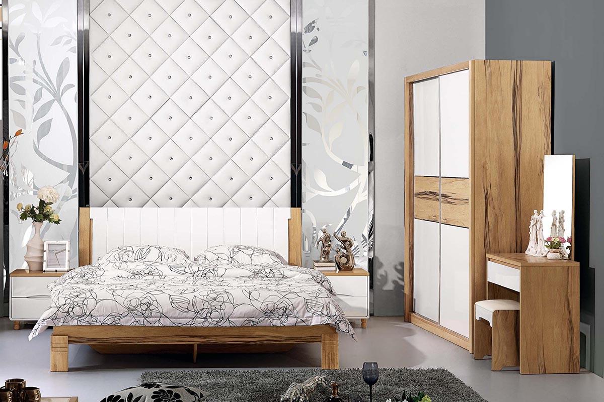 Bộ giường ngủ tủ quần áo hiện đại