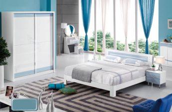 Bộ giường tủ màu trắng thanh lịch