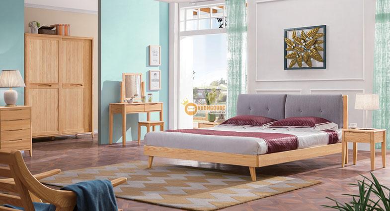 Bộ giường tủ phòng ngủ giá rẻ đơn giản
