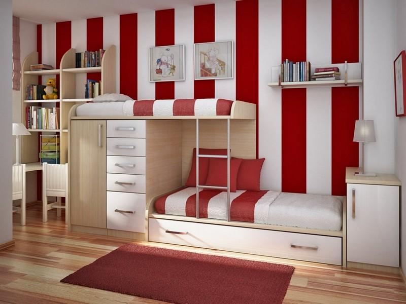 Giường ngủ kết hợp với bàn học cho bé trai