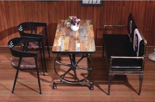 Bàn ghế quán café bằng sắt kiểu dáng độc đáo