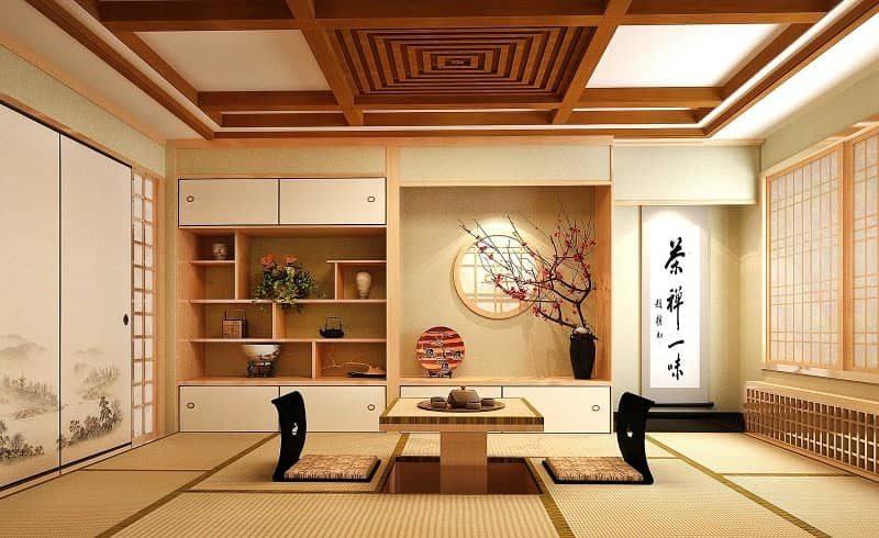 Phòng khách thiết kế theo phong cách Nhật Bản - SOFA HOMES - Cung cấp SOFA #1