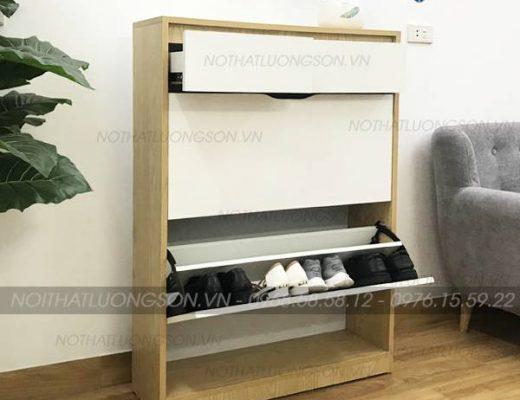 Mua tủ giày gỗ đẹp Lương Sơn thiết kế sang trọng tinh tế