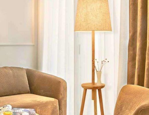đèn cây gỗ